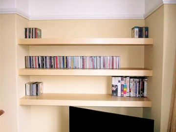 Floating Shelves Pine Veneer