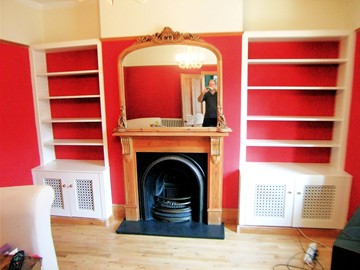 Plantation Style Alcove Cupboards