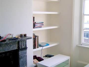 Media Center, Contemporary Shelving