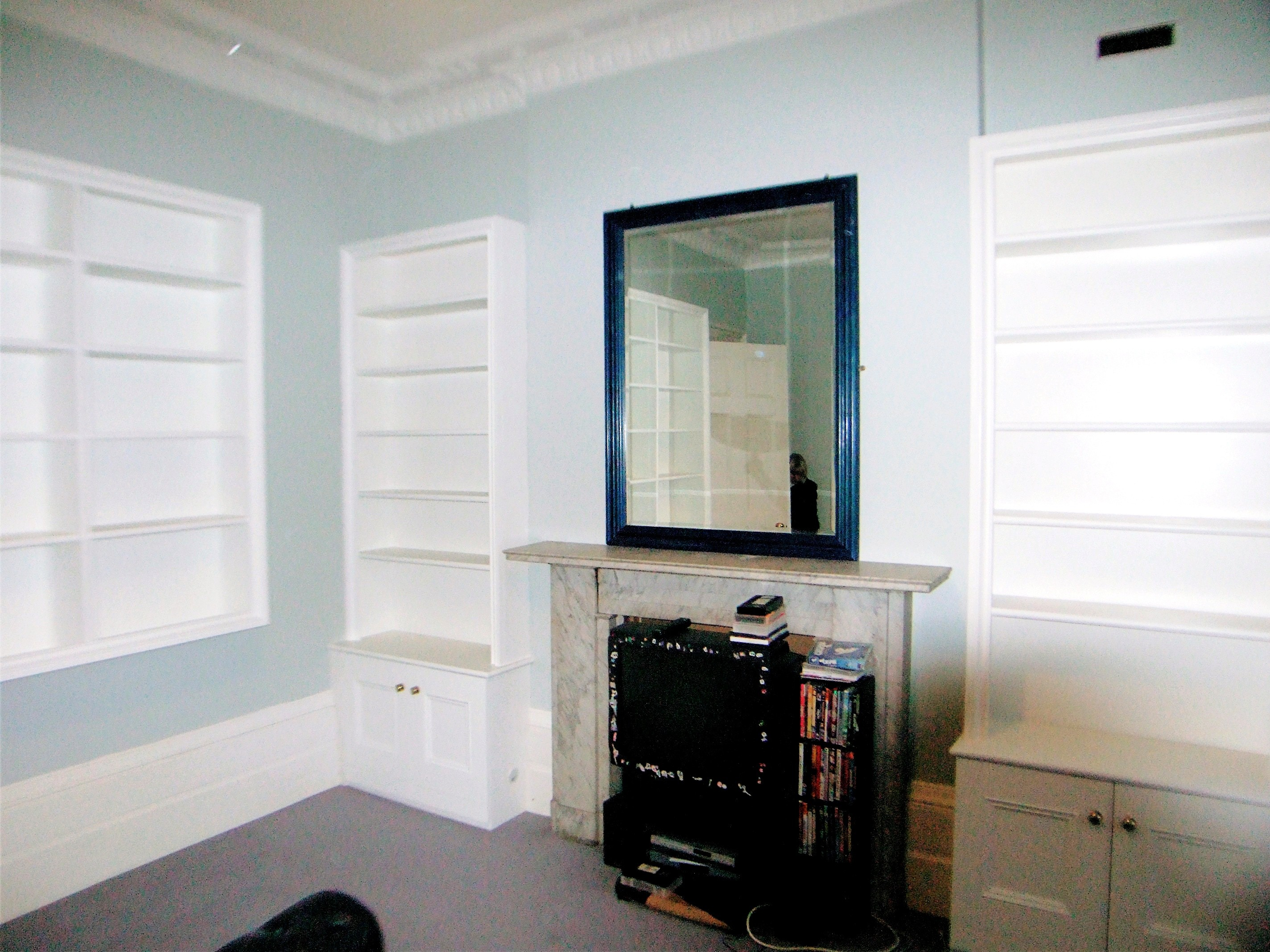 Victorian Style Alcove Cupboards